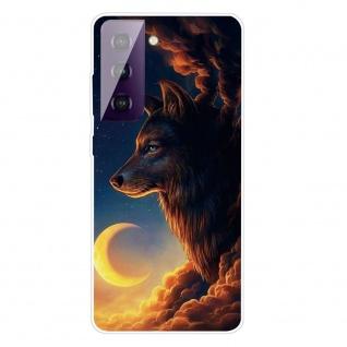 Für Samsung Galaxy S21 Plus Silikon TPU Sky Wolf Handy Hülle