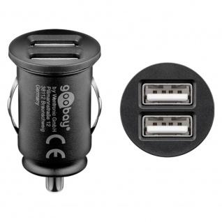Universal Dual-USB Auto Ladegerät mit zwei USB-Ports 12W/2, 4A Kfz Auto Schwarz