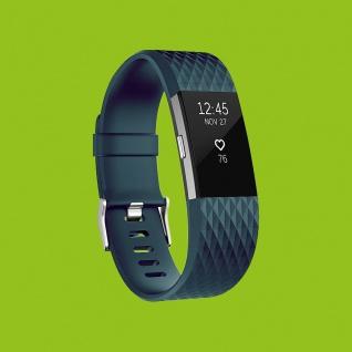 Für Fitbit Charge 2 Kunststoff / Silikon Armband für Männer / Größe L Blau-Grau