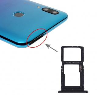 Für Huawei P Smart Pro 2019 SIM + SIM Card Tray Karten Halter + Micro SD Schwarz