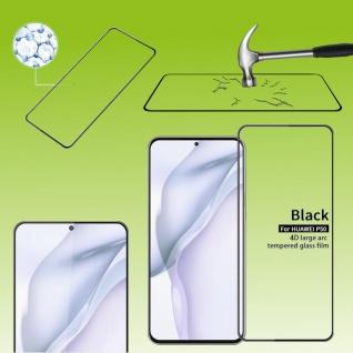 Für Huawei P50 2x 4D Display Full LCD H9 Curved Hart Glas Folie Panzer Schutz