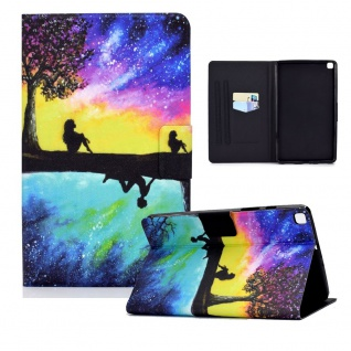 Für Samsung Galaxy Tab A 10.1 2019 T510 Motiv 87 Tablet Tasche Kunst Leder Etuis