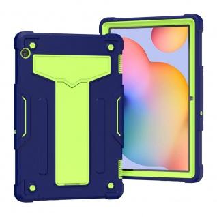 Für Huawei MediaPad T5 aufstellbare Tablet Schutzhülle Cover Blau Grün