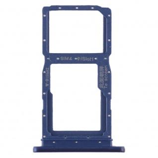 Sim Karten Halter für Huawei Honor 9X Blau Card Tray Ersatz Reparatur Zubehör