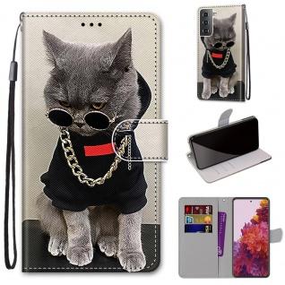 Für Samsung Galaxy S21 5G Kunst-Leder Handy Tasche Motiv 2 Hülle Etuis Cover Neu
