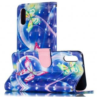 Für Samsung Galaxy A40 Kunstleder Tasche Wallet Motiv 34 Schutz Hülle Etuis Neu