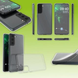Für Samsung Galaxy S21 Plus Silikon Case TPU Schutz Transparent Handy Tasche Neu