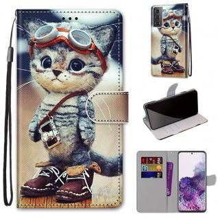 Für Samsung Galaxy S21 Plus 5G Kunst-Leder Handy Tasche Motiv 1 Hülle Etui Cover