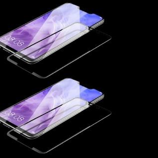 2x Für Huawei Honor 8X 3D Display 0, 3 mm H9 Hart Glas Schwarz Schutz Folie Cover