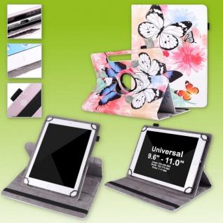 Für Lenovo Tab M10 Plus 360 Grad Rotation Motiv 3 Tablet Tasche Kunst Leder Etui