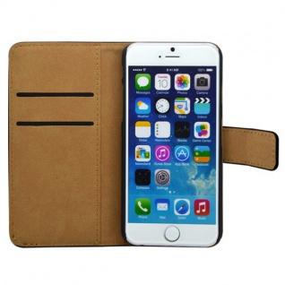 Wallet Tasche Deluxe Schwarz für Apple iPhone 6 4.7 Handy Hülle Zubehör Case - Vorschau 4