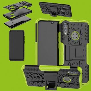 Für Huawei P Smart / Plus 2019 Hybrid 2teilig Outdoor Grün Tasche Hülle Etuis