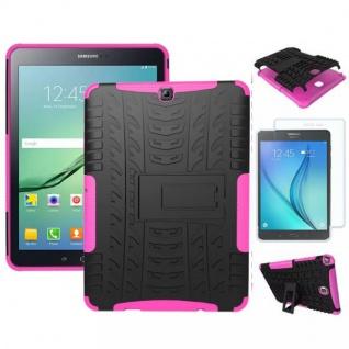 Hybrid Outdoor Tasche Pink für Samsung Galaxy S2 9.7 T810 N + 0.4 H9 Hartglas