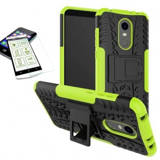 Hybrid Case Tasche Outdoor 2teilig Grün für Xiaomi Redmi 5 Hülle + H9 Glas Hülle
