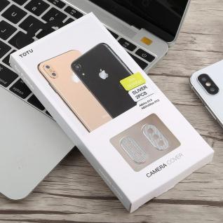 Kamera Cam Schutz Protection Ring für Apple iPhone XS 5.8 Zoll Silber 2Pcs - Vorschau 4