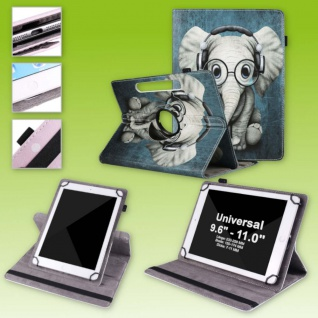 Für Lenovo Tab M10 Plus 360 Grad Rotation Motiv 1 Tablet Tasche Kunst Leder Etui