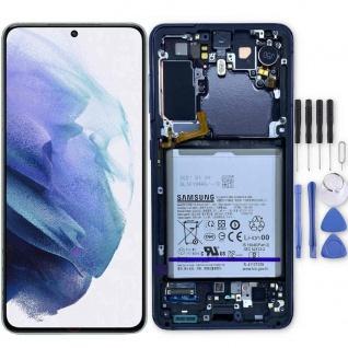 Samsung Display LCD Kompletteinheit für Galaxy S21 G991B GH82-24716A Grau Ersatz