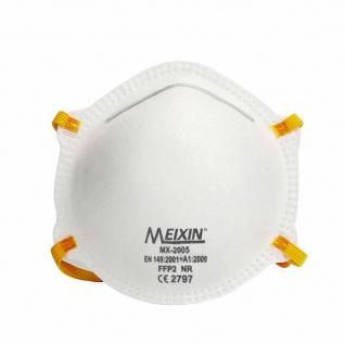 50x MEIXIN Hochwertige Medizinische Atem Schutzmaske Atemschutzmaske FFP2 Schutz Maske Zubehör Neu - Vorschau 2
