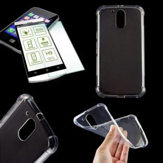 Silikoncase Transparent Tasche + 0, 3 H9 Panzerglas für Motorola Moto G4 2016 Neu