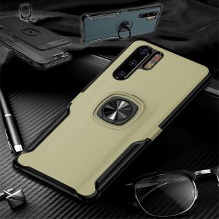 Für Huawei P30 Lite Magnet Metall Ring Hybrid Gold Tasche Hülle Etuis Cover Case