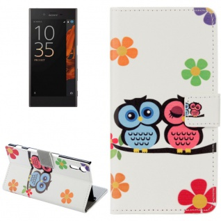 Tasche Wallet Premium Muster 11 für Sony Xperia XZ F8331 Bookcover Hülle Case
