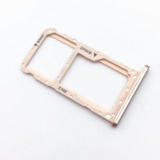 Für Huawei P20 Lite Karten Halter Sim Tray Schlitten Holder Pink / Rose Gold Neu