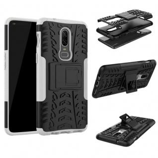 Für OnePlus 6 Six Hybrid Case 2teilig Outdoor Weiß Etui Tasche Hülle Cover Neu