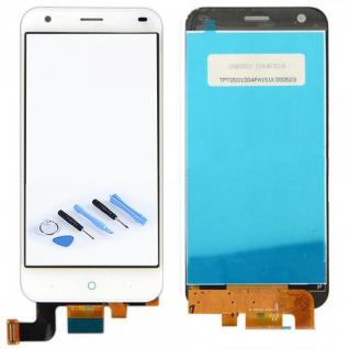 Display LCD Touchscreen Flex Komplett Front Weiß für ZTE Blade S6 Plus Reparatur