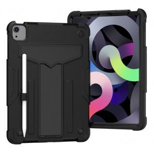 Für Apple iPad Air 10.9 2020 aufstellbare Tablet Schutzhülle Cover Schwarz