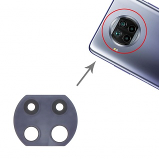 Kamera Linsen Abdeckung für Xiaomi Mi 10i Ersatzteil Reparatur Schwarz