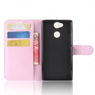 Tasche Wallet Premium Rosa für Sony Xperia XA2 Hülle Case Cover Schutz Etui Neu - Vorschau 4