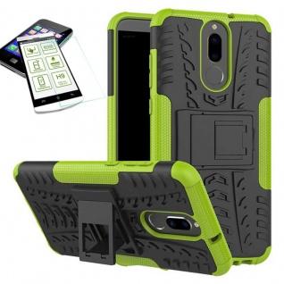 Hybrid Case Tasche Outdoor 2teilig Grün für Huawei Mate 10 Lite Hülle + Glas Neu