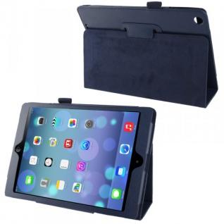Schutzhülle Kunstleder Tasche Blau Case Etui für Apple iPad Air Case Hülle Neu
