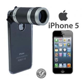 Telescope für Apple iPhone 5 5S SE Kamera Zubehör Objektiv Hülle 8x Zoom Hülle