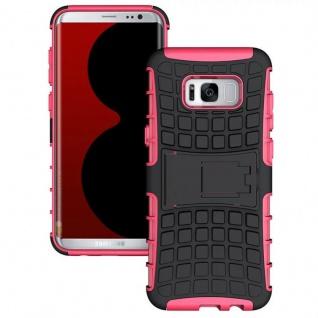 Hybrid Case 2teilig Outdoor Pink Tasche Hülle für Samsung Galaxy S8 Plus G955F
