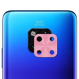 Metall Kamera Schutz Ring Rückseite für Huawei Mate 20 Pro Pink Zubehör Neu