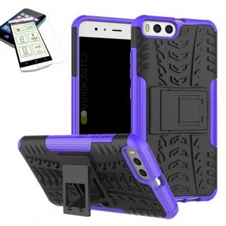 Hybrid Case Tasche Outdoor 2teilig Lila für Xiaomi Mi6 Hülle + Hartglas Etui - Vorschau 1