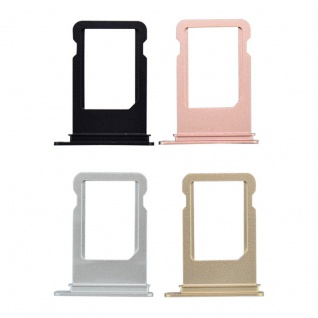 Nano Sim Karten Halter Adapter Sim Card Tray für Apple iPhone 7 & 7 Plus Silber 2