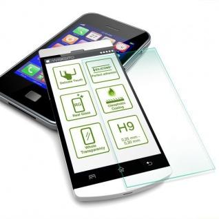 Für Huawei P Smart Plus Magnet Glas Tasche Rot / Transparent + 0, 26 H9 Glas Case - Vorschau 5