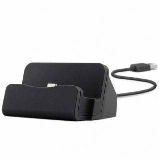 Dockingstation Sync Lade Dock Tischladestation für Micro USB Smartphones Schwarz