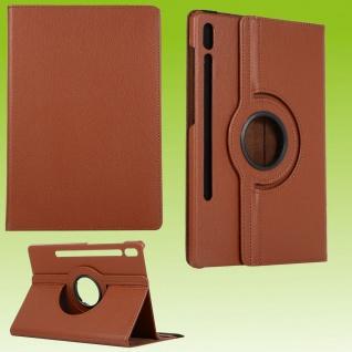 Für Samsung Galaxy Tab S7 Plus / S7 FE Tablet Hülle Case Schutz Braun Cover
