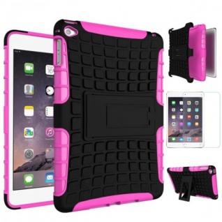 Für Apple iPad Mini 5 7.9 2019 Hybrid Outdoor Pink Tasche Etuis + 0.3 mm H9 Glas