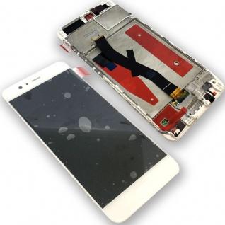 Für Huawei P10 Full Display LCD Einheit mit Rahmen Komplett Weiß Reparatur Neu