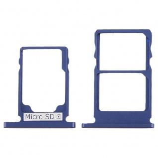 Für Nokia 5.1 Simkarten Halter Card Tray Blau Blue SD Card Ersatzteil Zubehör