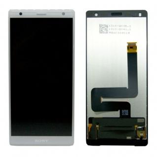 Sony Display LCD Komplett für Xperia XZ2 H8266 Reparatur Silber Ersatzteil Neu