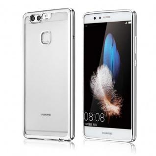 Premium TPU Schutzhülle Silber für Huawei P9 Tasche Case Backcover Silikon Neu