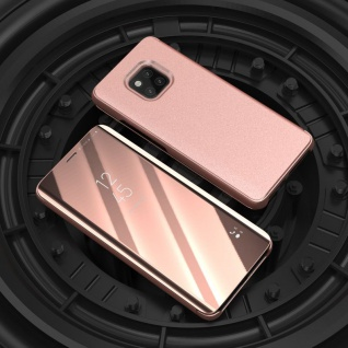 Für Huawei Mate 20 Pro Clear View Smart Cover Pink Tasche Hülle Wake UP Case Neu