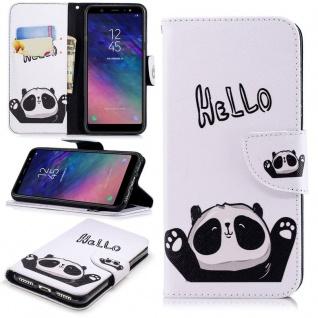 Für Samsung Galaxy A6 Plus A605 2018 Kunstleder Tasche Book Motiv 39 Hülle Case