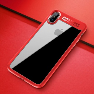 Original ROCK Bumper Case für Apple iPhone X / XS Tasche Hülle Etui Schutz Rot