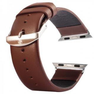 Echtleder Leder Armband Braun für Apple Watch Lederarmband 38 mm iWatch Zubehör